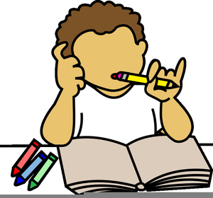 Hoemwork clipart image library download Boy Doing Homework Clipart | Free Images at Clker.com - vector clip ... image library download