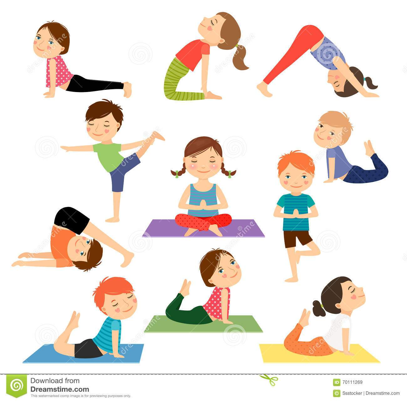 Doing yoga clipart clipart freeuse download Kids doing yoga clipart 3 » Clipart Portal clipart freeuse download