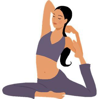 Doing yoga clipart png black and white stock Yoga clipart clip art - ClipartBarn png black and white stock