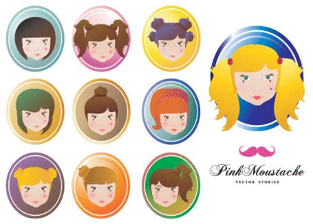 Doll face clipart vector free Free Doll Face Vector Free Clipart and Vector Graphics - Clipart.me vector free