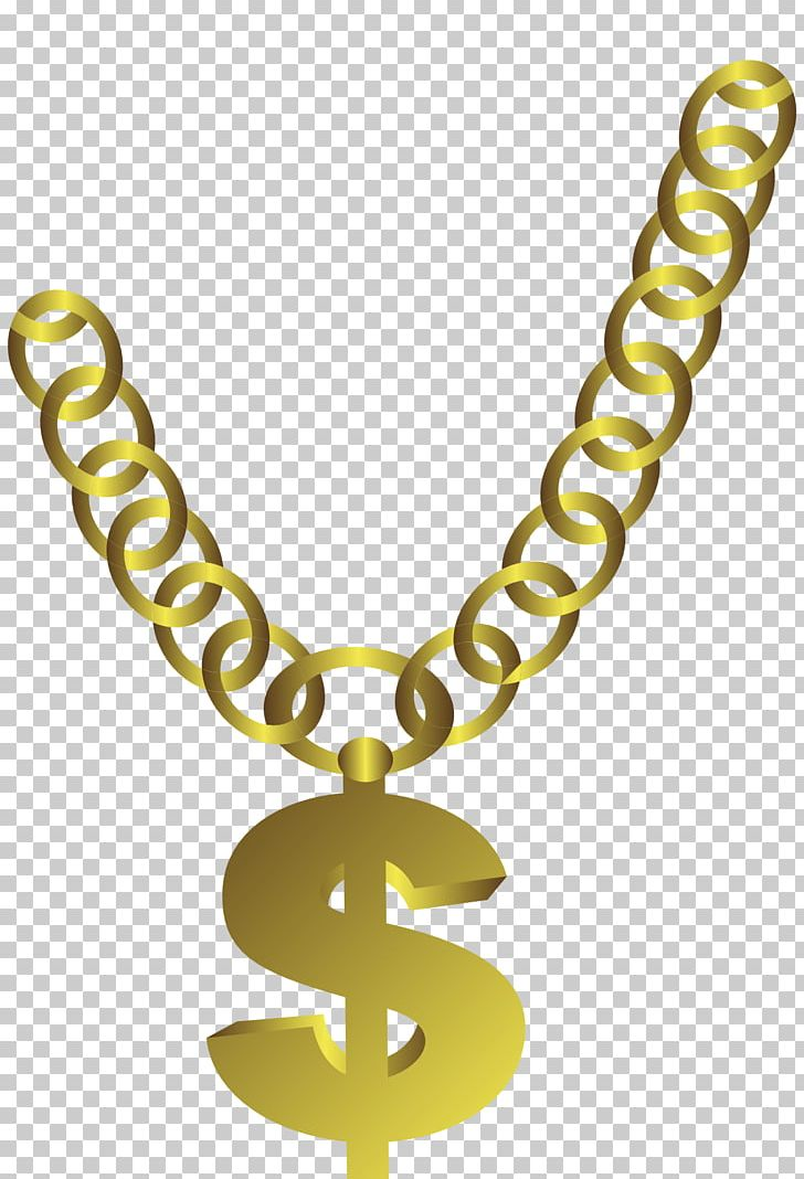 Dollar necklace clipart