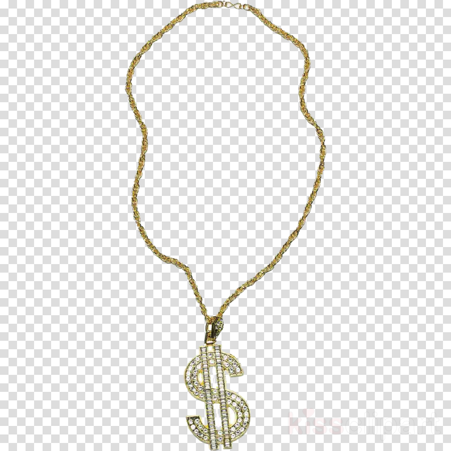 Dollar necklace clipart vector black and white stock Gold Dollar Sign clipart - Fashion, transparent clip art vector black and white stock