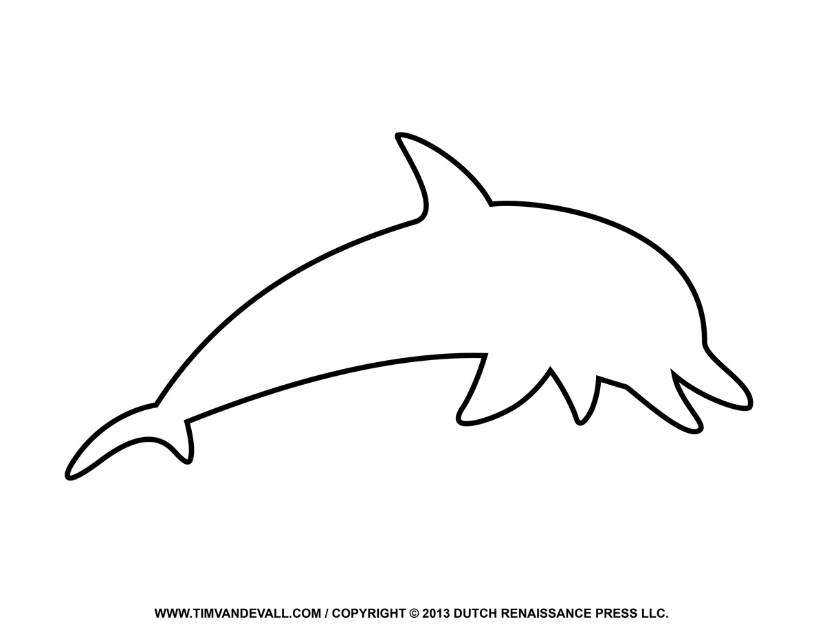 Dolphin outline clipart clipart black and white Free dolphin clipart printable coloring pages outline – Gclipart.com clipart black and white