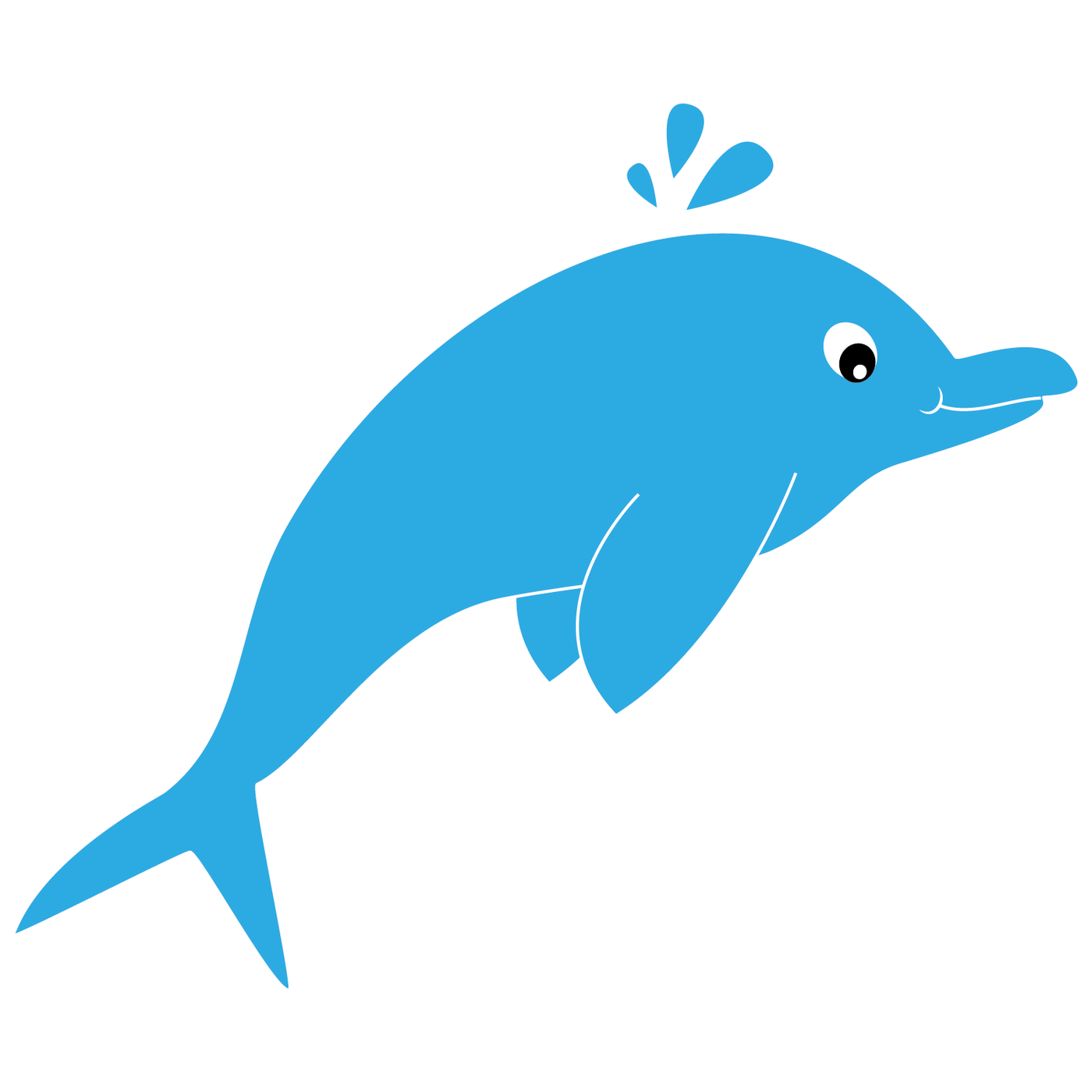 Under the sea clip. Dophin fish clipart