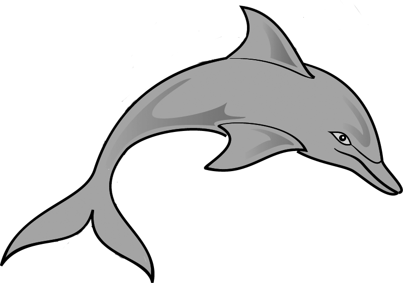 Dolphin fish jumping clipart image black and white library Dolphin Clip Art Outline | Clipart Panda - Free Clipart Images image black and white library