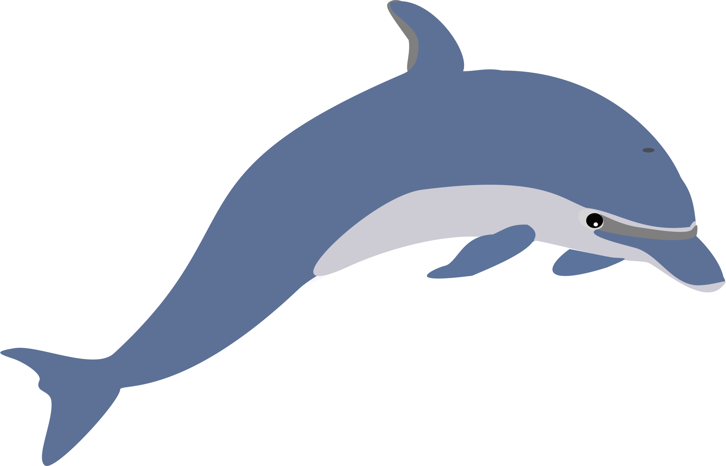 Real cliparts zone. Dolphin heart clipart