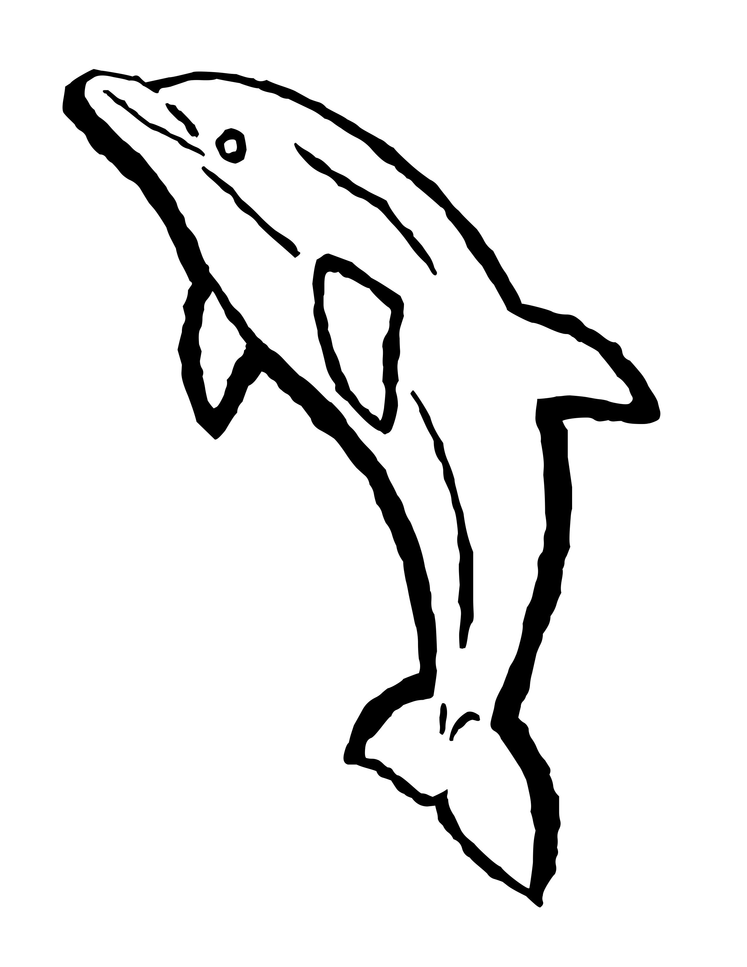 Dolphin outline clipart jpg royalty free library Dolphin Outline Clip Art | Free Dolphin Coloring Pages | dolphin ... jpg royalty free library