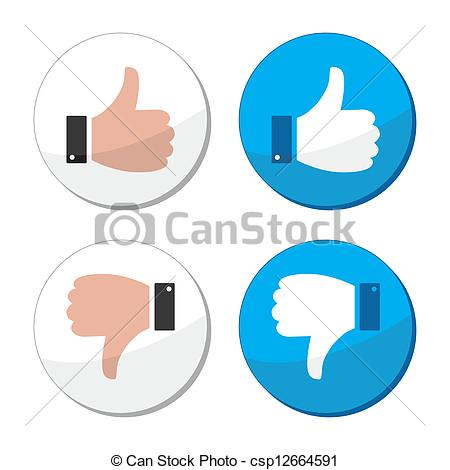 Don like clipart png library stock EPS Vectors of Thumb up and down like vector icon - Round labels ... png library stock