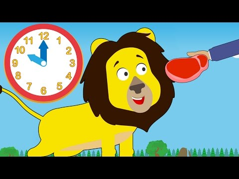 Don t feed the animals clipart vector library Feeding Time At Number Zoo | Learn To Tell Time With Toddler Fun ... vector library