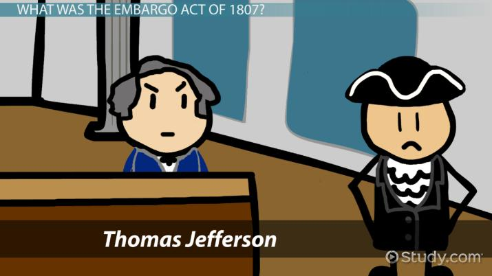 Don t follow the alien and sedition act clipart clipart free stock The Embargo Act of 1807: Summary & Facts - Video & Lesson Transcript ... clipart free stock