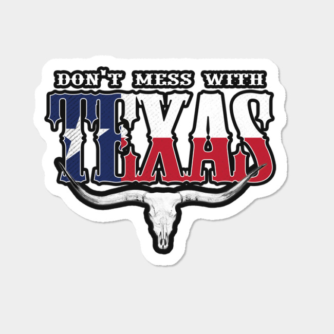 Don t mess with texas coffee mug clipart svg black and white download Don\'t Mess With Texas Sticker By EddieBalevo Design By Humans svg black and white download