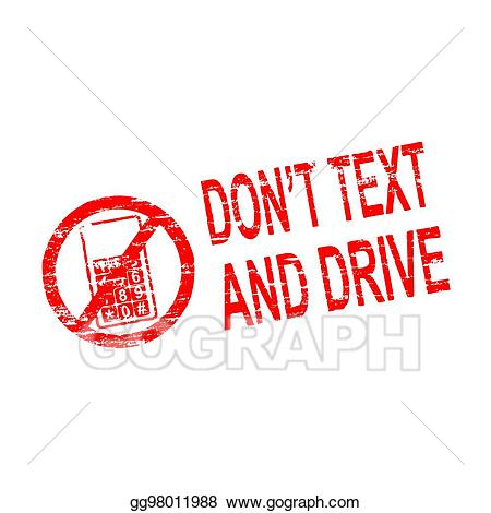 Don t text and drive clipart