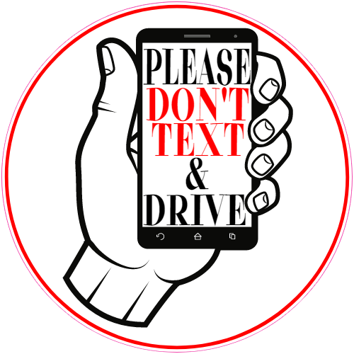 Don t text and drive clipart png black and white library Please Don\'t Text And Drive Phone Sticker png black and white library