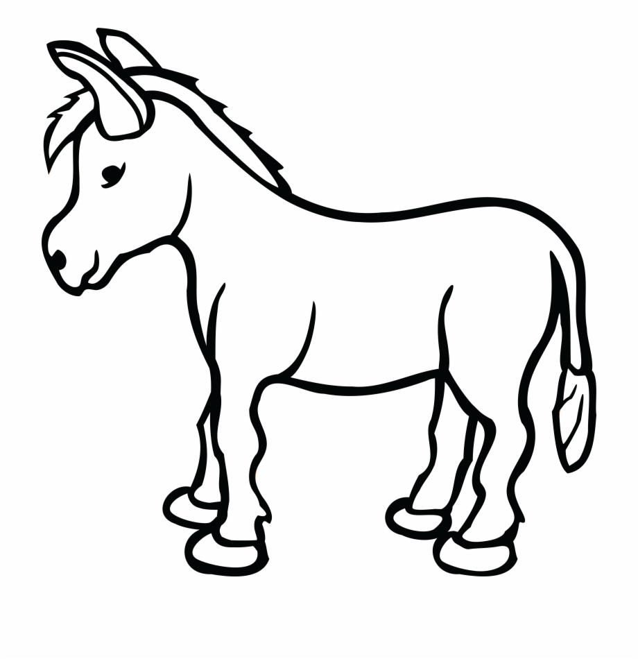 Donkey clipart black and white clipart black and white Jesus On Donkey Clipart Black And White & Clip Art - Donkey Clipart ... clipart black and white
