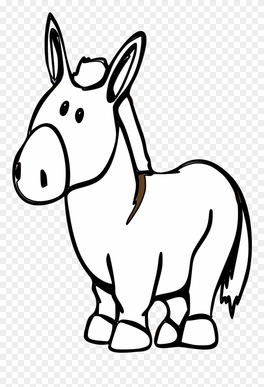 Donkey clipart black and white clip freeuse Donkey Cartoon - Black And White Cartoon Image Of Donkey Clipart ... clip freeuse