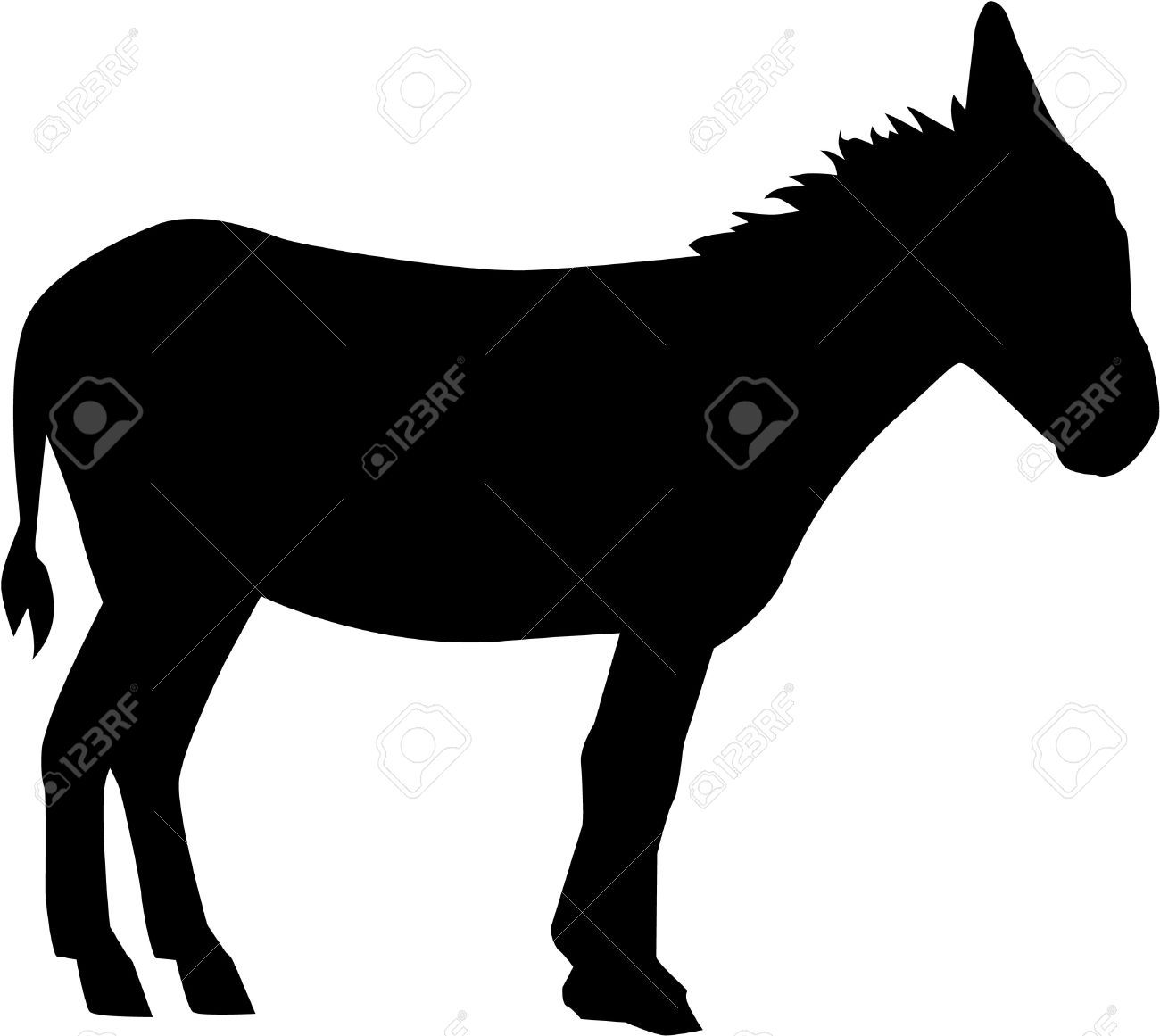 Donkey clipart black and white vector freeuse library Donkey clipart black and white 4 » Clipart Portal vector freeuse library