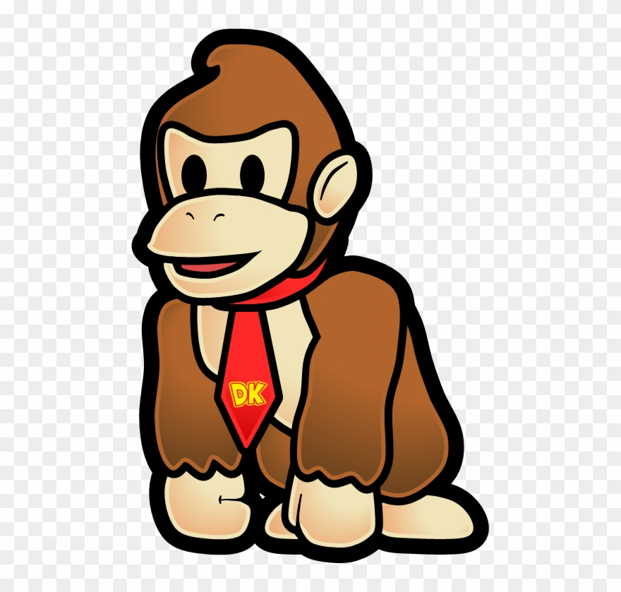 Donkey kong cliparts png free library Barrel Clipart Donkey Kong - Paper Mario Donkey Kong - Png Download ... png free library