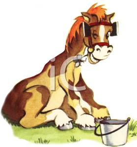 Donkey with blinders clipart banner royalty free A Horse with Blinders on Sitting on His Haunches Smiling - Royalty ... banner royalty free