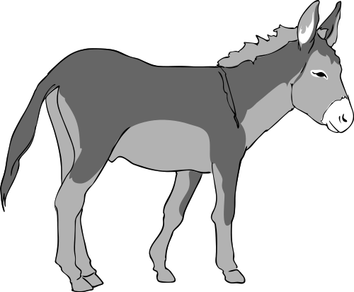 Donkey with blinders clipart picture black and white download Free Donkey Clipart - Clipart Picture 6 of 12 picture black and white download