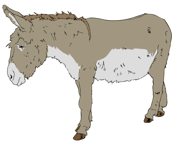 Donkey with blinders clipart png transparent download Free Donkey Clipart - Clipart Picture 1 of 12 png transparent download