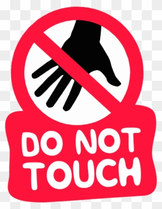 No touching sign clipart image free download Free PNG Do Not Touch Clip Art Download - PinClipart image free download