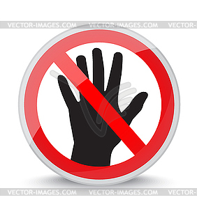 Dont touch clipart vector black and white library Don`t touch - vector clip art vector black and white library