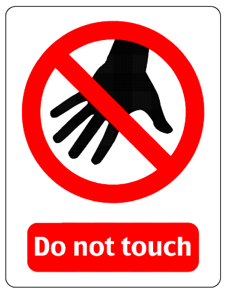 Dont touch clipart clipart royalty free download Do Not Touch Sign Clip Art at Clker.com - vector clip art online ... clipart royalty free download