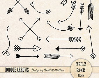 Doodle arrow clip art banner freeuse library Rustic Arrows And Heart Clipart - Clipart Kid banner freeuse library