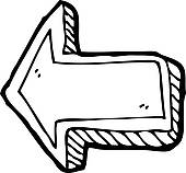 Doodle arrow clip art graphic Direction Arrow Clip Art - Royalty Free - GoGraph graphic