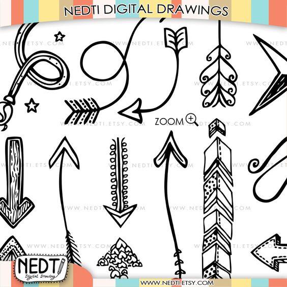 Doodle arrow clip art clip art freeuse download 35+Hand+Drawn+Arrows+Clip+Art+Whimsical+Arrow+Doodle+by+Nedti,+$ ... clip art freeuse download