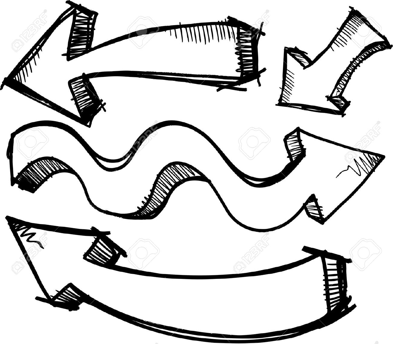 Doodle arrow clip art picture royalty free stock Free doodle arrow clipart - ClipartFest picture royalty free stock