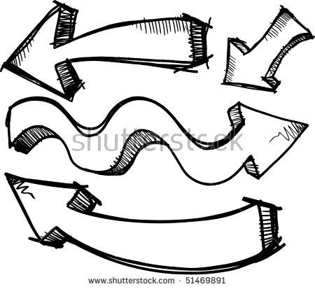 Doodle arrow clipart curved clip art royalty free Arrow Doodle Illustration Sketchy Vector Stock Photos, Royalty ... clip art royalty free