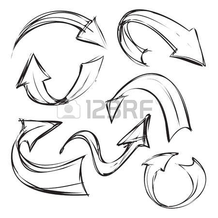 Doodle arrow clipart curved banner library stock Curved Arrow Stock Photos & Pictures. Royalty Free Curved Arrow ... banner library stock