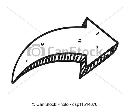 Doodle arrow clipart curved image download Doodle arrow clipart - ClipartFest image download