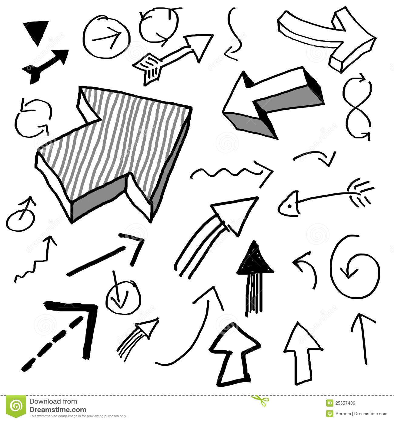 Doodle arrow clipart free image black and white stock Doodle arrow clipart free » Clipart Portal image black and white stock