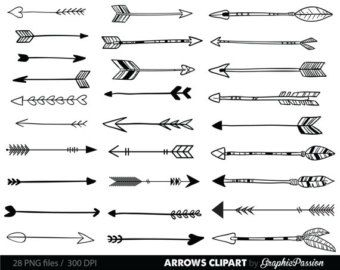 Doodle arrow clipart free png free download 35 Hand Drawn Arrows Clip Art, Whimsical Arrow Doodle Clipart ... png free download