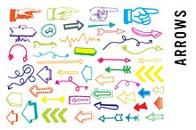 Doodle arrow clipart png freeuse stock Doodle Tribal Feather Arrows Clipart ~ Illustrations on Creative ... freeuse stock