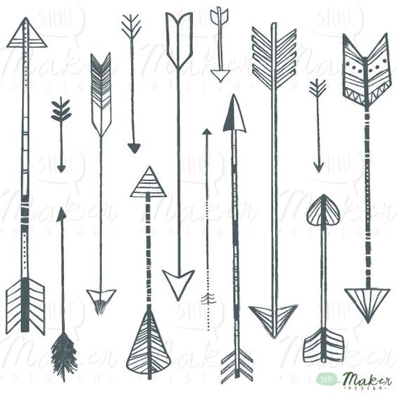 Arrow Clip Art - PNG Files - Photoshop Brushes - Digital Graphic ... graphic free
