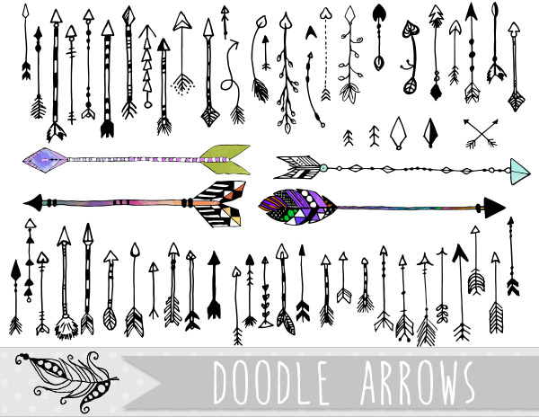 Doodle Arrows PNG and Vector Clipart by InkZen on DeviantArt picture
