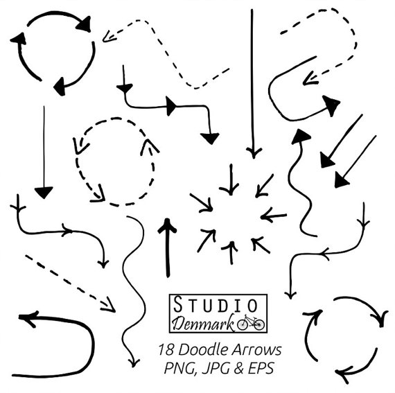 Doodle arrow clipart png clipart transparent Clipart doodle arrow - ClipartFest clipart transparent