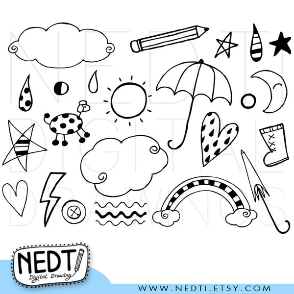 Doodle clipart free banner black and white 7+ Doodle Clipart | ClipartLook banner black and white