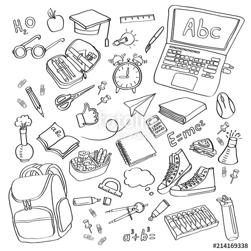 Royalty free clipart icons clipart freeuse download School clipart Vector doodle school icons symbols\