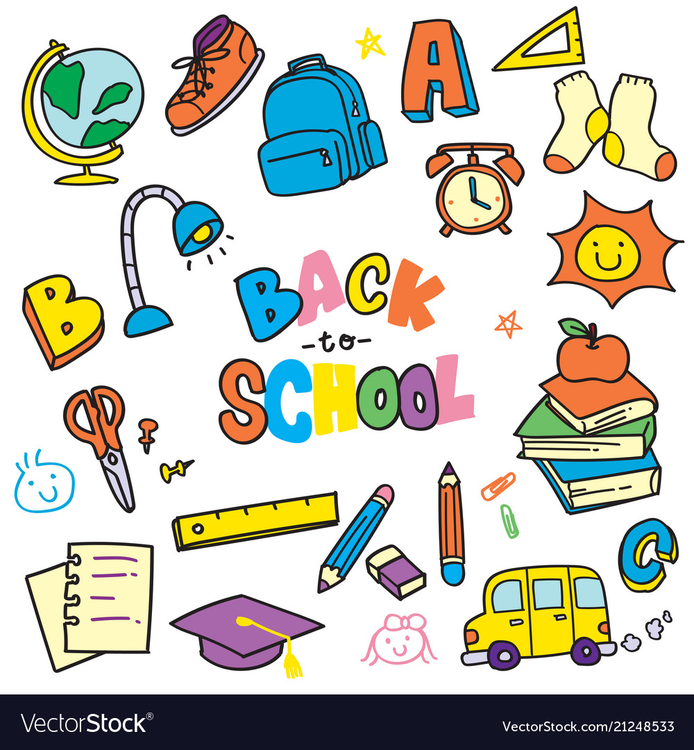 Doodle clipart free jpg free download Back to school doodle clip art jpg free download