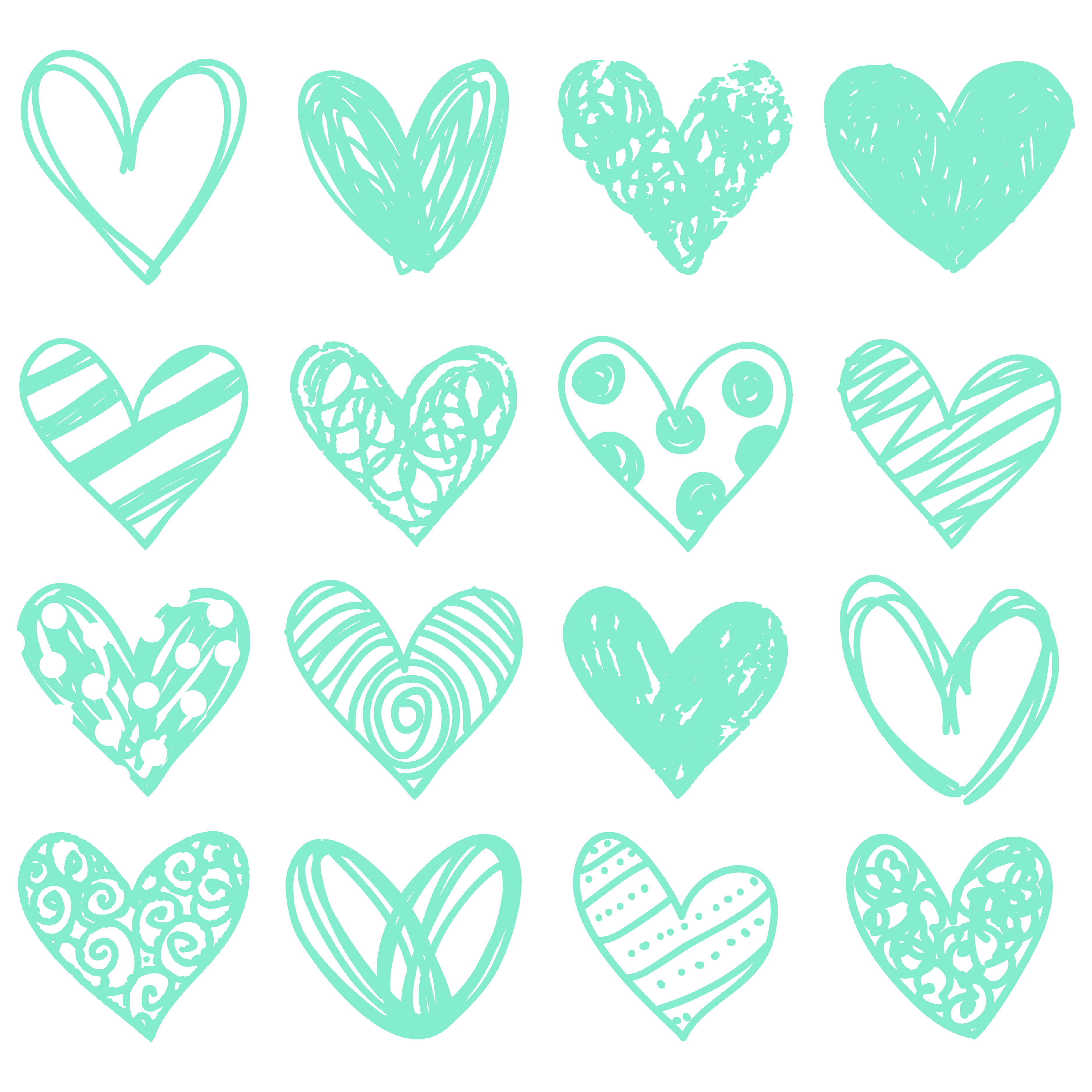 Doodle heart clipart vector freeuse library Free Doodle Heart Clip Art - Free Pretty Things For You vector freeuse library