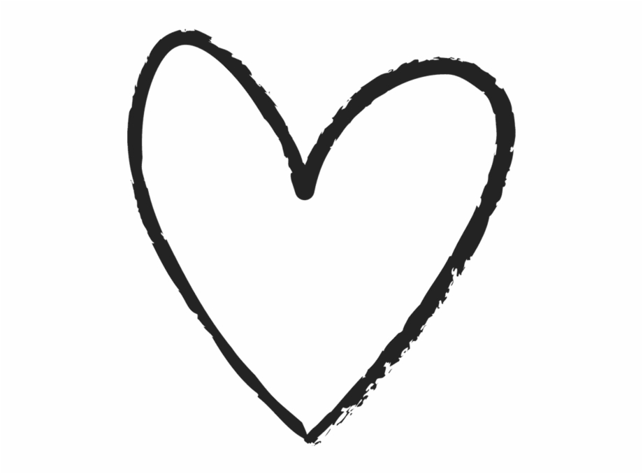 Doodle heart clipart png outline