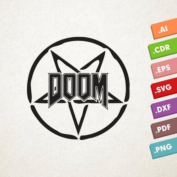 Doom clipart svg clip art library library DOOM logo - SVG Vector file. Game Doom. Instant download for cricut ... clip art library library