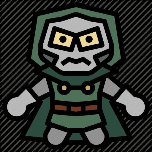 Doom clipart svg freeuse download \'Marvel avatars filledoutline\' by Sur JJ freeuse download