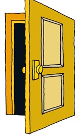 Door open clipart svg royalty free library Free clipart door 1 » Clipart Portal svg royalty free library