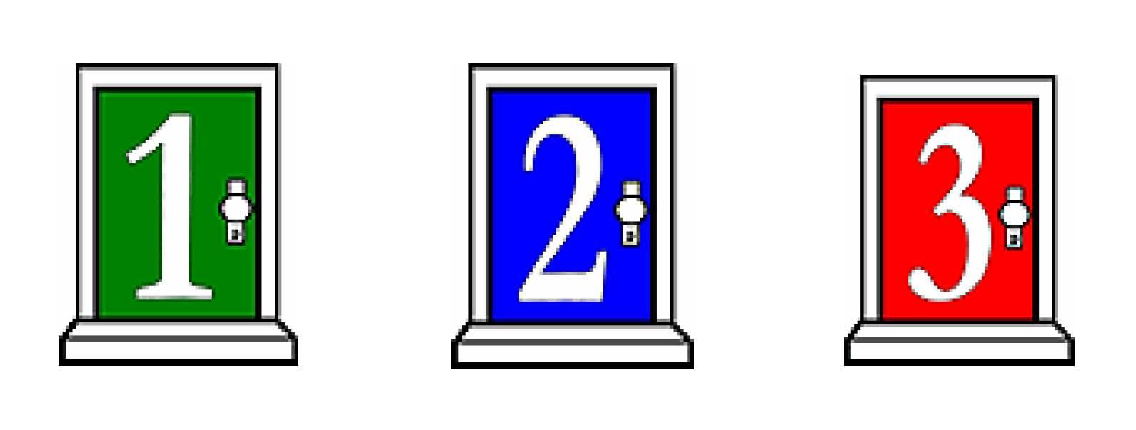 Door 1 clipart jpg black and white download What\'s Behind Door #3? | Teacher Professor jpg black and white download
