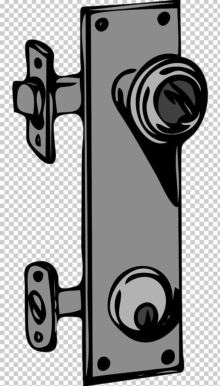 Door latch clipart image black and white stock Door Handle Lock Key PNG, Clipart, Audio, Black And White, Builders ... image black and white stock